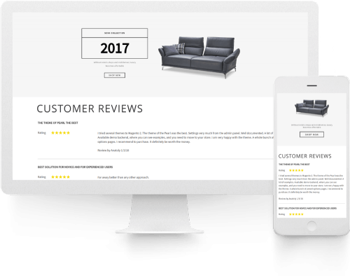 Stack. Framework and Extension Pack page Magento 2 Product Reviews and Rating Widget snapshot.