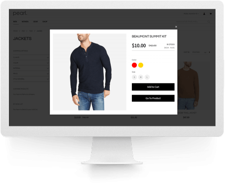 Stack. Framework and Extension Pack page Magento 2 Advanced Product Quick View and Ajax Cart snapshot.