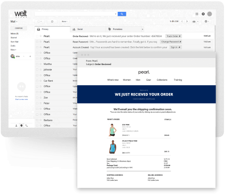 Stack. Framework and Extension Pack page Email Template Editor snapshot.