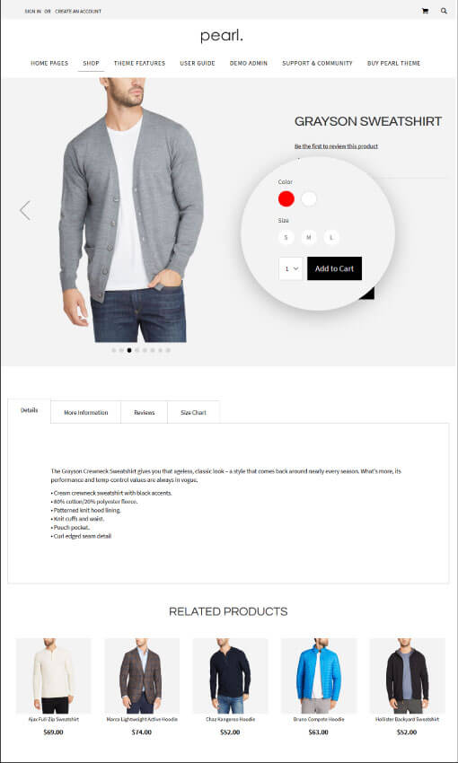 Product Page - CONFIG PRODUCT